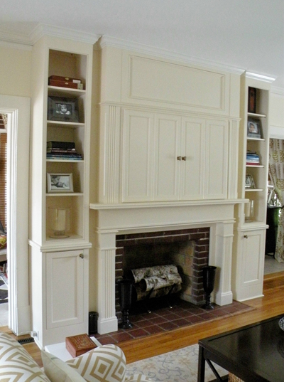 Mantel And Fireplace Cabinetry